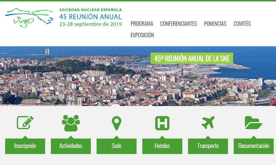 El CINC presente en la 45ª Reunión Anual de la Sociedad Nuclear Española (SNE)