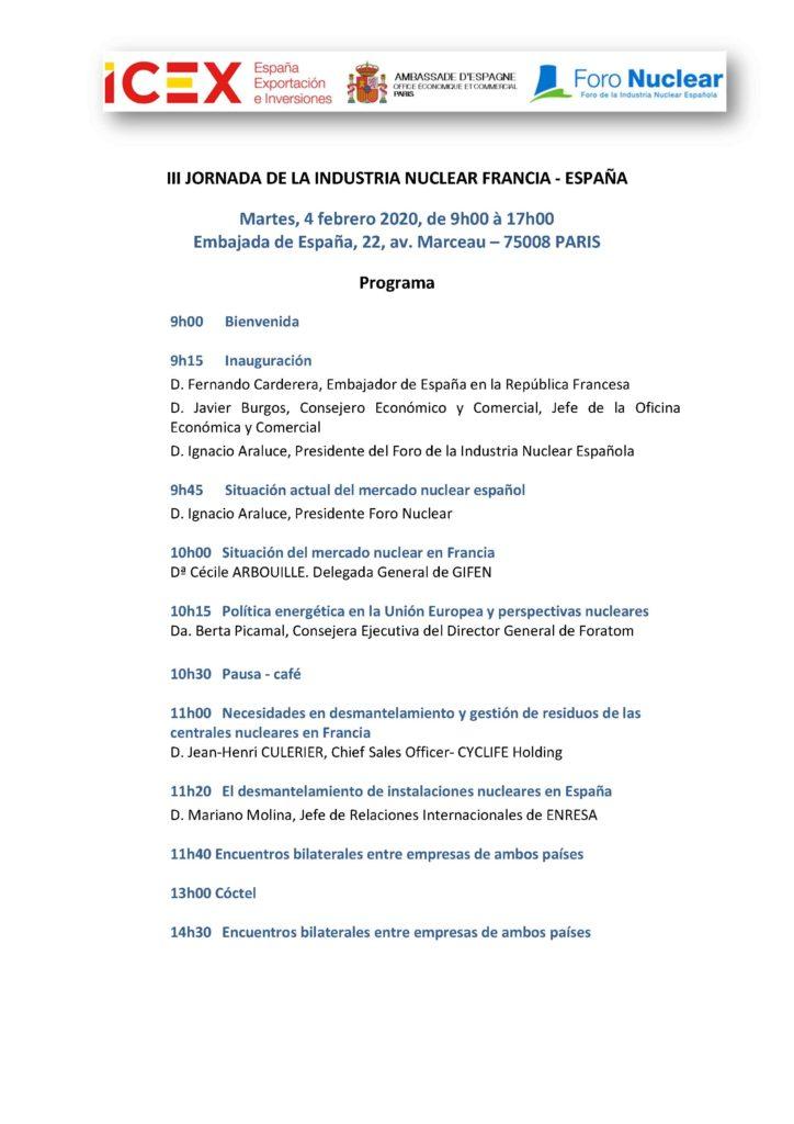 El CINC PARTICIPA EN LA III JORNADA DE LA INDUSTRIA NUCLEAR FRANCIA - ESPAÑA